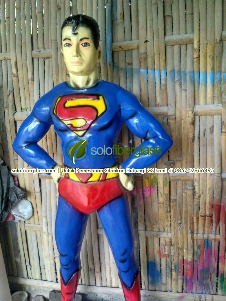 Patung Fiber Superman - Patung Fiber Superman